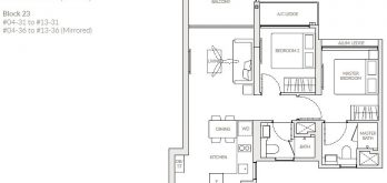 the-woodleigh-residences-floor-plan-2-bedroom-b2b-singapore
