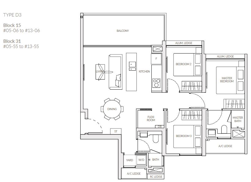 The Woodleigh Residences Floor Plan 67175005 Singapore